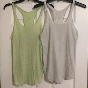 X2 Lululemon Striped Racerback Tanks